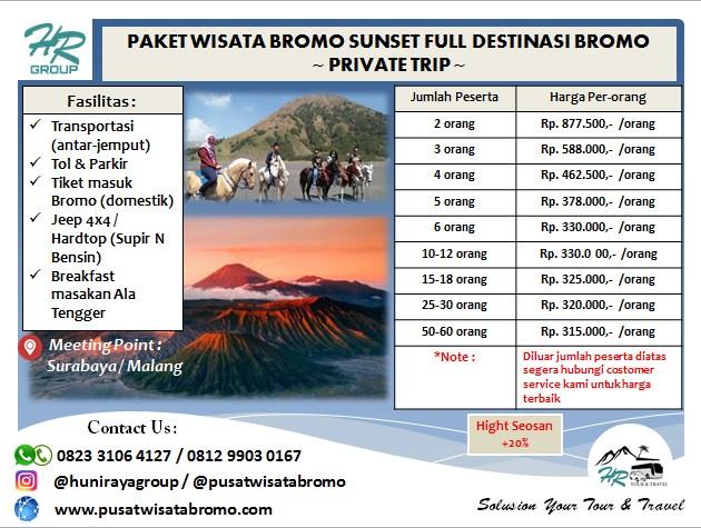 Paket Wisata Bromo Sunset Tour Terbaik