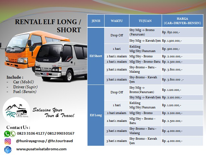 Rental Elf long and short Pasuruan Malang dan Surabaya