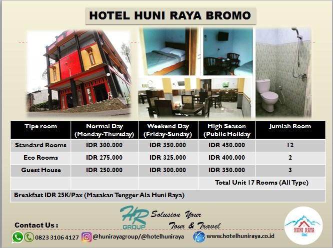 Hotel Huni Raya Bromo Hotel di Bromo Pasuruan Terbaik