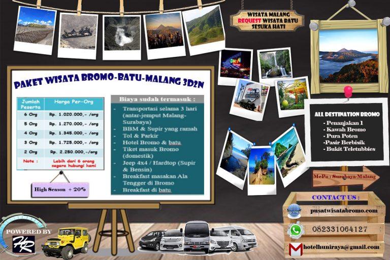 PAKET WISATA BROMO BATU MALANG 3D2N