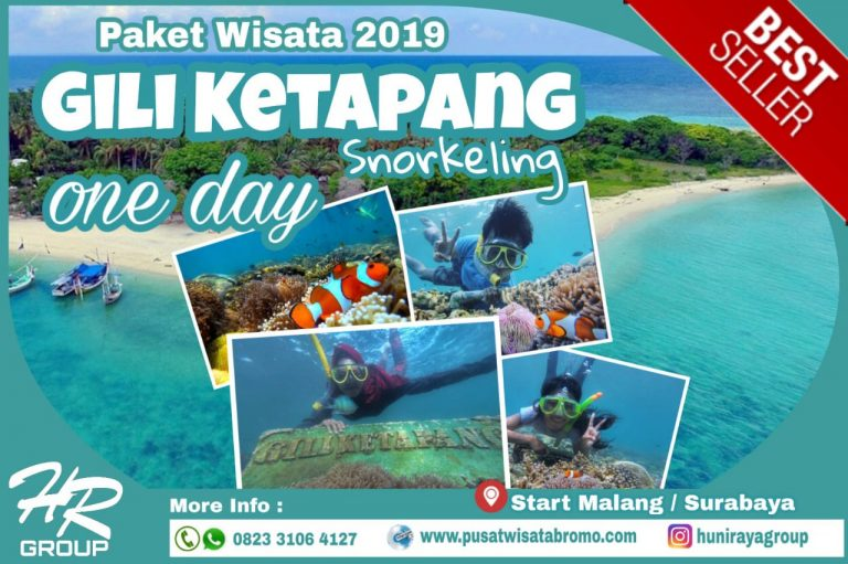 Paket Wisata Pulau Gili Ketapang One Day Trip Terbaru 2019 | PusatWisataBromo.com By Huni Raya Group