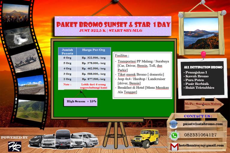 Paket Wisata Bromo Sunset dari Surabaya atau Malang