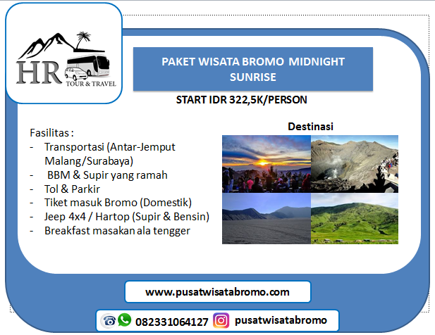 paket wisata bromo malang midnight Dari Surabaya