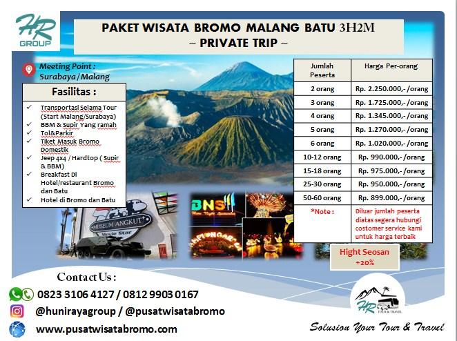 Paket Wisata Bromo Malang Batu Tour 3 Hari 2 Malam